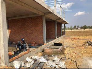 カンボジアの手作り浄化槽