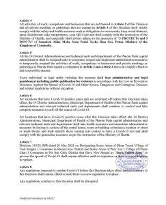 カンボジアのコロナ規制