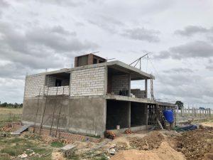 カンボジアの住宅建設