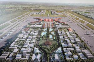 カンボジア新空港建設完成予想図
