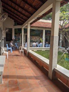 カンボジアのPCR検査場