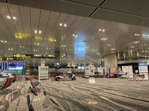 コロナ禍のシンガポール空港